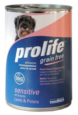 Cane - Grain Free Agnello & Patate Prolife 400 gr
