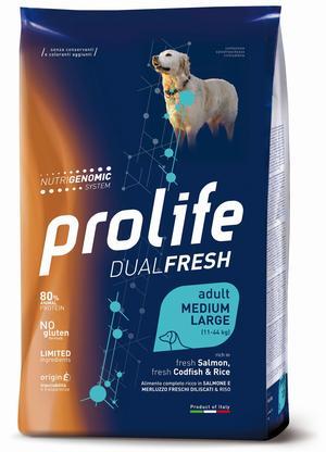Cane - Medium/Large Salmone & Merluzzo Dual Fresh Prolife 12 Kg