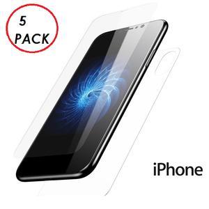 5 PACK PELLICOLA VETRO FRONTE & RETRO PER IPHONE X/XS PROTEZIONE FRONTALE E POSTERIORE