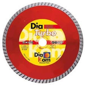Disco diamantato dia turbo professionale Ø230 cemento, laterizi graniti Dia Kom. Liscio o con flangia