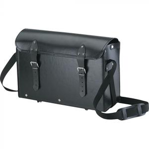 Borsa valigetta attrezzi per elettricista in cuoio colore nero cm 35