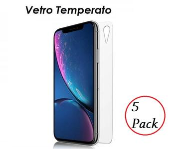 5 PACK PELLICOLA VETRO RETRO PER IPHONE XR PROTEZIONE POSTERIORE