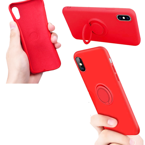CUSTODIA COVER PER APPLE IPHONE 11 PRO 5.8'' COVER SLIM CON ANELLO STAND