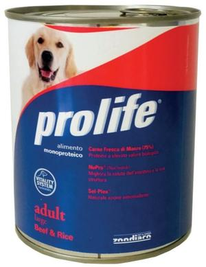 Cane - Adult Large Manzo & Riso Prolife 800 gr