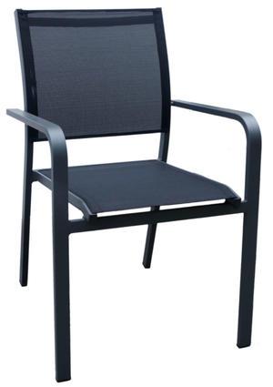 Sedia da giardino ROCCAMARE in alluminio antracite e textilene CHA 32 GR