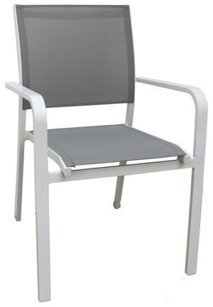 Sedia da giardino ROCCAMARE in alluminio BIANCO e textilene CHA 32 BI