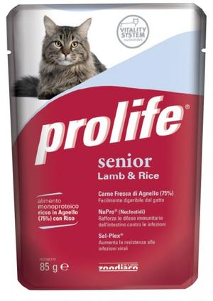 Gatto - Senior Agnello & Riso Prolife 85 gr