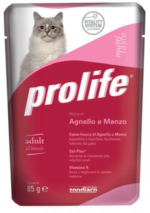 Gatto - Agnello & Manzo Prolife 85 gr