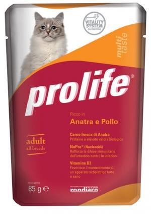 Gatto - Anatra & Pollo Prolife 85 gr