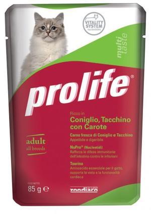 Gatto - Coniglio, Tacchino & Carote Prolife 85 gr