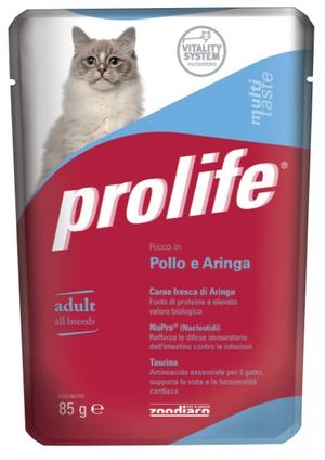 Gatto - Pollo & Aringa Prolife 85 gr