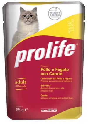 Gatto - Pollo, Fegato & Carote Prolife 85 gr