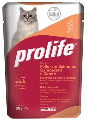 Gatto - Pollo, Salmone & Gamberetti Prolife 85 gr