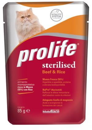 Gatto - Sterilised Manzo Prolife 85 gr