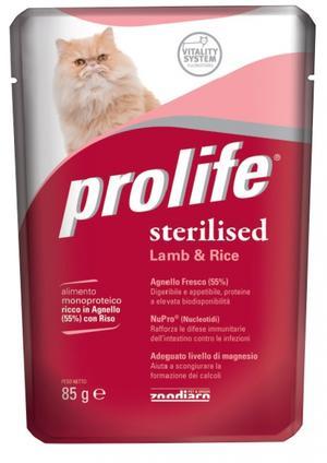Gatto - Sterilised Agnello Prolife 85 gr