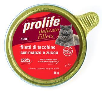 Gatto - Fillets Tacchino, Manzo & Zucca Prolife 85 gr