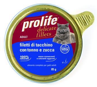 Gatto - Fillets Tacchino, Tonno & Zucca Prolife 85 gr