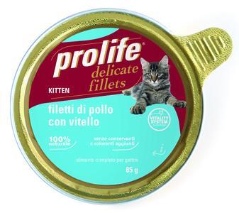 Gatto - Fillets Kitten Pollo & Vitello Prolife 85 gr