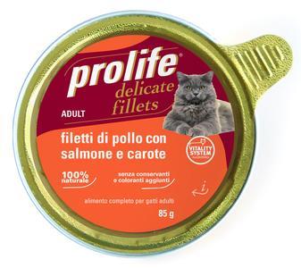 Gatto - Fillets Pollo, Salmone & Carote Prolife 85 gr
