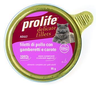 Gatto - Fillets Pollo, Gamberetti & Carote Prolife 85 gr
