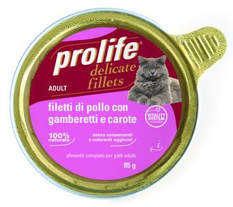 Gatto - Fillets Pollo, Gamberetti & Carote Prolife 85 gr