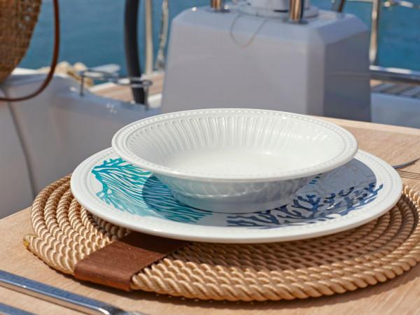 Set 6 Piatti Dessert con Decoro Harmony di Marine Business - Offerta di Mondo Nautica 24