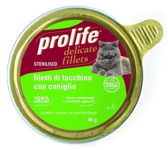 Gatto - Fillets Sterilised Tacchino & Coniglio Prolife 85 gr