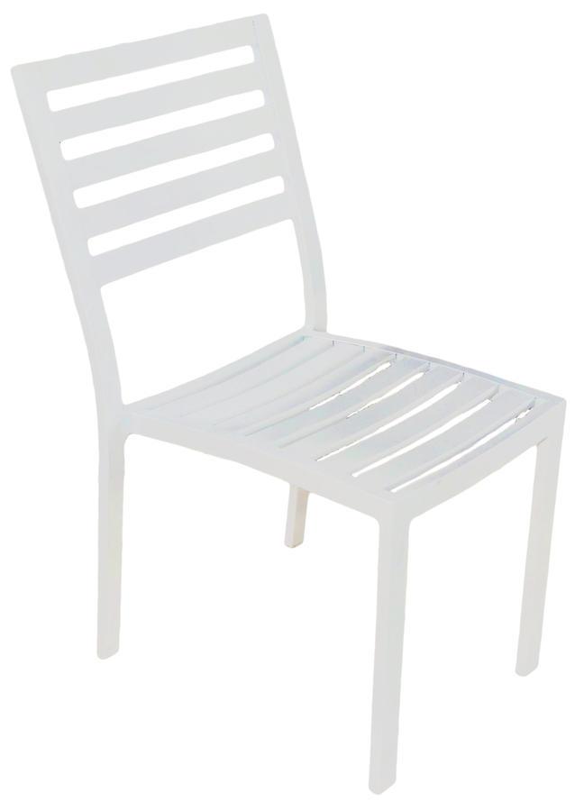 Sedia da giardino in alluminio IMPILABILE VILLAFRANCA bianco CHA 37 BI