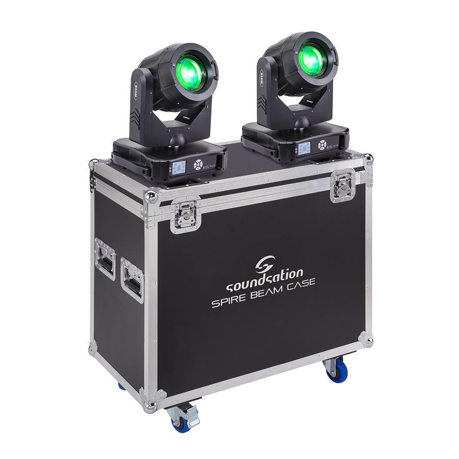 SOUNDSATION SPIRE 280 BEAM SET Kit composto da due Teste Mobili SPIRE 280 BEAM con Flight Case