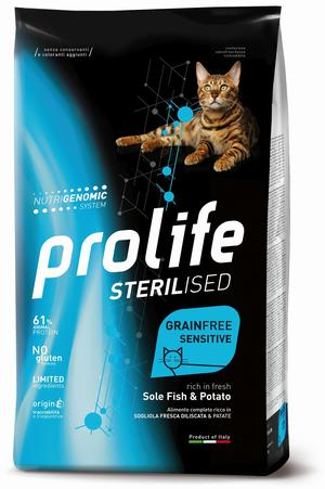 Gatto - Sterilised Sensitive Grain Free Pesce & Patate Prolife