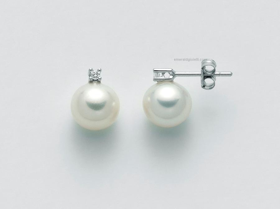 PER1775 Orecchini con perle e diamanti Miluna -