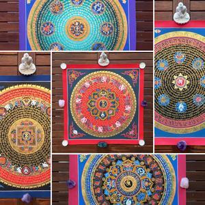 Mandala Mantra and 8 Auspicious Symbols