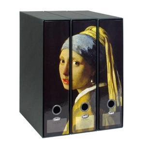 Set tre registratori Image - Formato Protocollo - Dorso 8 cm - Jan Vermeer - Ragazza con l'orecchino di perla