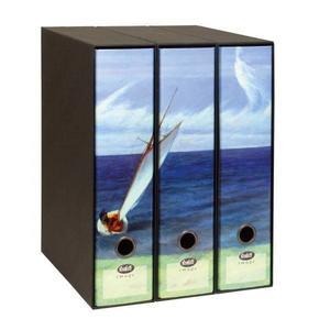 Set tre registratori Image - Formato Protocollo - Dorso 8 cm - Edward Hopper - La costa di Lee (parte 1)