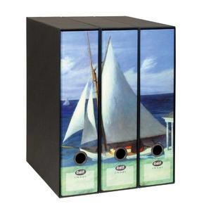 Set tre registratori Image - Formato Protocollo - Dorso 8 cm - Edward Hopper - La costa di Lee (parte 2)