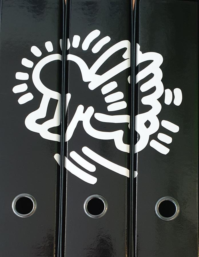 Set tre registratori Image - Formato Protocollo - Dorso 8 cm - Keith Haring - Angelo