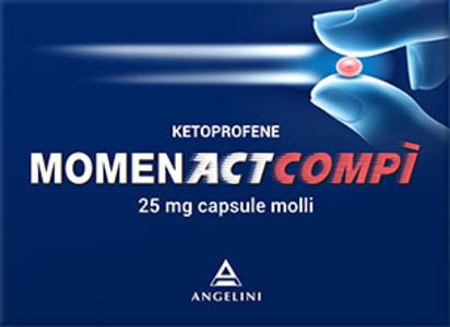 MOMENACTCOMPÌ  25 mg 10 CAPSULE MOLLI