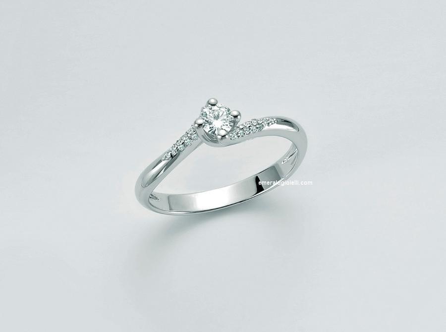 lid3297-d30g7 Anello Solitario con Diamante Miluna -