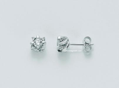 ERDd5072-016g7 Orecchini Punti Luce con Diamante Miluna -