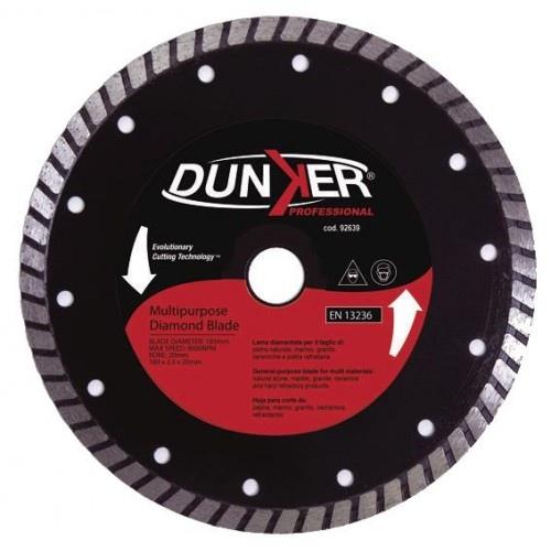 Disco Diamantato Corona Turbo 185 mm Dunker 92639 per Sega Circolare mod. Ks 1050