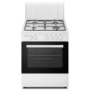 SCHAUB LORENZ 4F cucina a gas con Forno a gas + Grill elettrico 60X60 BIANCA SS460GEW