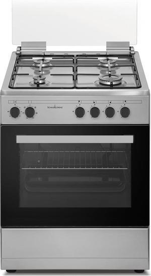 SCHAUB LORENZ 4F cucina a gas con Forno a gas + Grill elettrico 60X60 INOX SS460GEX