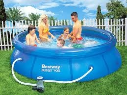 Piscina Bestway 57100 Fast Set Pool 244 x 66 cm