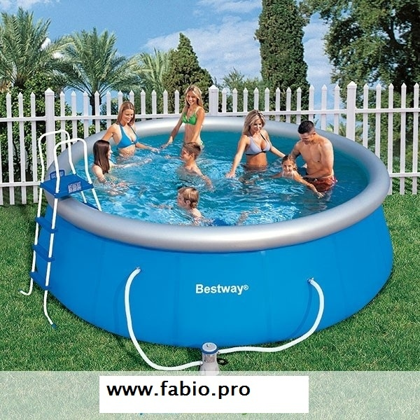 Piscina bestway autoportante 57148 fast set pool 457x 122 cm con scaletta ed accessori - Piscine da montare ...