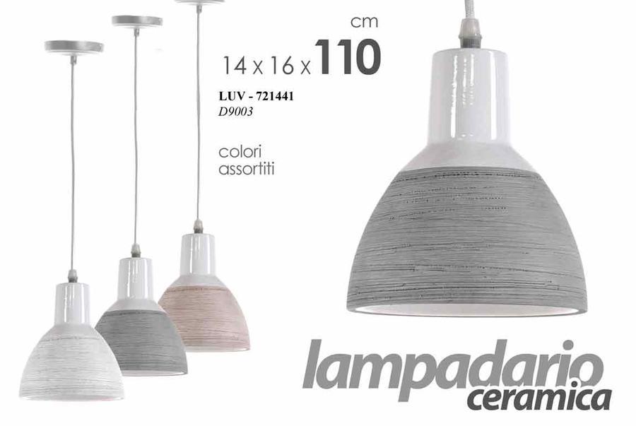 Lampadario a sospensione 1 Luce Ceramica Vintage Moderno Lampadari 110*14*16 Cm