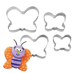 Set 4 cutter tagliabiscotto a farfalla Wilton