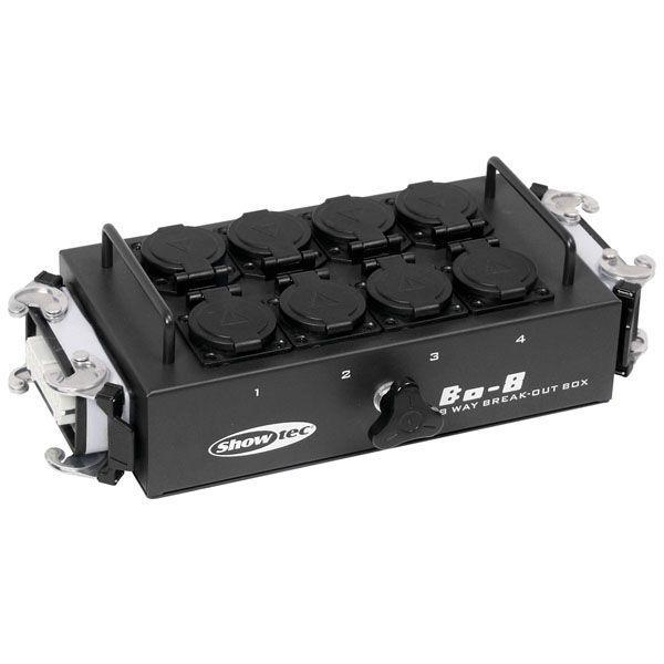 SHOWTEC BO-8-S2 8 prese schuko e 2 x connettore a 16 poli