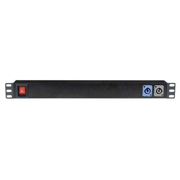 """Showgear 19"""" 1U Socketstrip 7 Con ingresso Powercon"""
