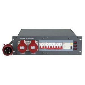 SHOWTEC - PS-3202 MKII Ingresso CEE 32A - 2 uscite CEE 16A + 6 prese schuko