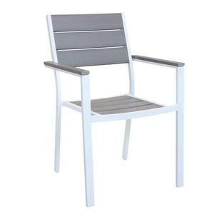 Sedia da giardino impilabile CERVIAS in polywood ed alluminio BIANCO